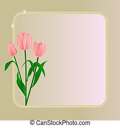 Tulips spring flowers background