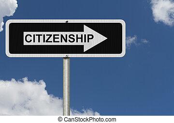 a, maneira, Para, obtendo, cidadania,