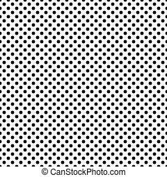 Black and White Small Polka Dots Pattern Repeat Background...
