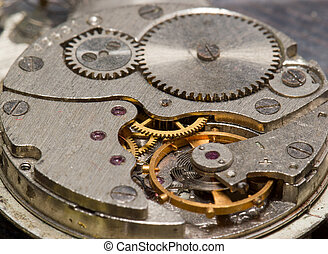 Clock on a large scale - Old clock mechanism in macro scale
