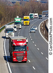 truck on highway - trucks on the highway road transport of...