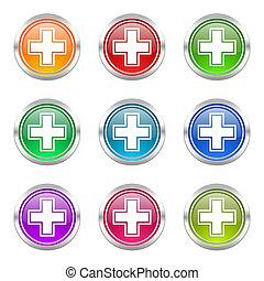 pharmacy icons set