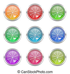 spider web icons set