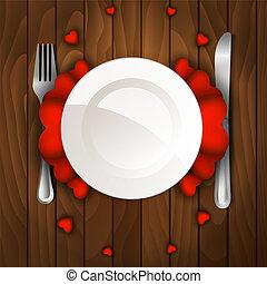 晚餐, 天, 情人是