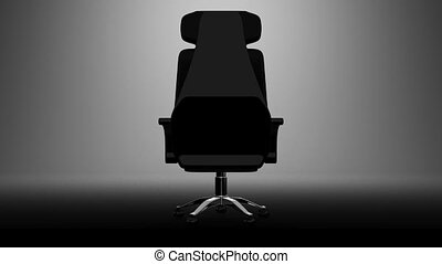 Business Chair On White Background 3D render Animation...