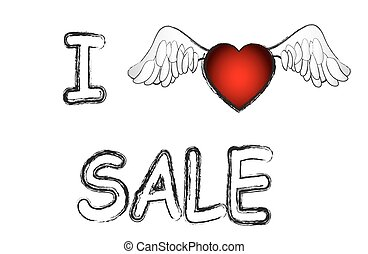 sale store valentines day heart ban