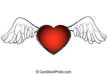 Valentines Day Heart vector illustr