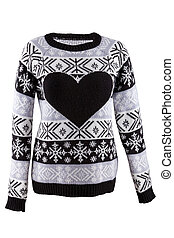 Knitted female sweater