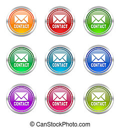 email icons set contact sign