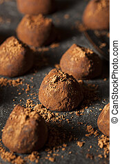 Fancy Dark Chocolate Truffles Ready to Eat