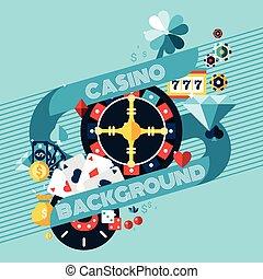 Casino Gambling Background - Casino gambling game of fortune...