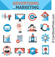 Advertising Marketing Icons - Advertising marketing icons...