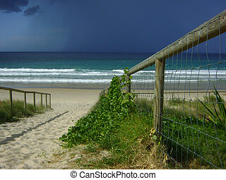 Miami beach Australia - Monsoon season storm approaching...