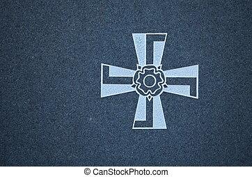 Finnish swastika Cross