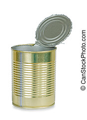 tin can - Empty opened metal tin can