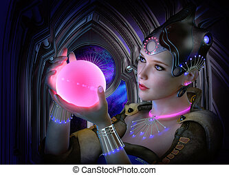 The luminous Sphere, 3d CG - 3D computer graphics of a...