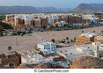Shibam, Yemen - Panorama of Shibam, a UNESCO World Heritage...