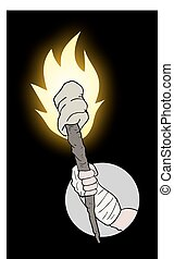 Torch icon - Creative design of Torch icon