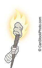 Torch comic - Creative design of Torch comic