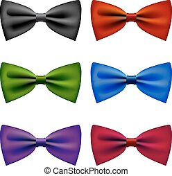 Bow tie colors vintage set - Bow tie vintage formal fashion...