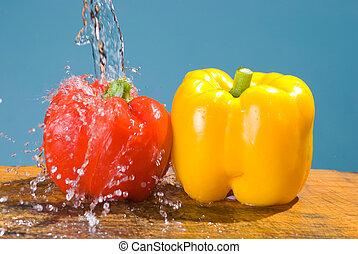 concept of fresh vegetable, bell pepper