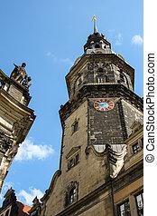 Dresden Triangulationssäule Schlossturm -...