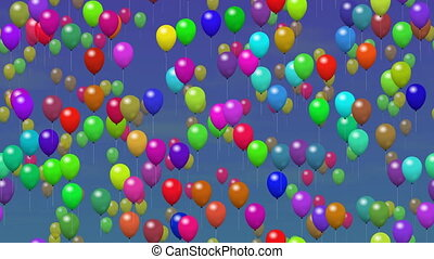 Party balloons seamless loop video - Party balloons...