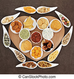 Snack Food Platter - Savoury snack and dip party food...
