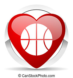 ball valentine icon basketball sign