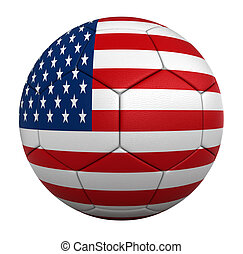 Soccer ball - 3d rendesr of soccer balls with usa national...