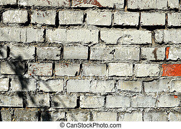 Whie brick wall texture background. Square format.