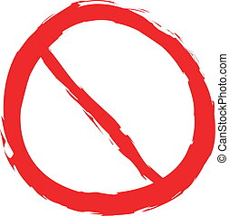 doodle forbidden sign isolated