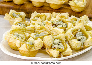 Pear and Gorgonzola Cheese Puff Pastries