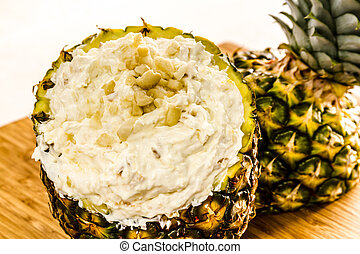Fresh Pineapple and Toasted Coconut Dip - Creamy pineapple...