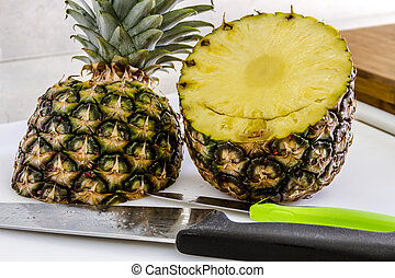 Fresh Pineapple and Toasted Coconut Dip - Fresh whole...