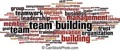 Team building word cloud - Team building power word cloud...