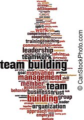 Team building word cloud - Team building power word cloud...