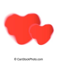 Pair of heart red shapes.