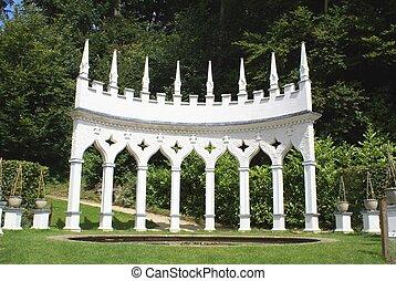 Colonnade at Rococo Gardens, UK - Colonnade, Rococo Gardens,...