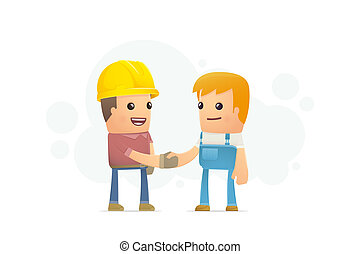 agreement between the builder and mechanic. conceptual...