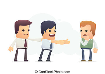 manager tries to beat the customer. conceptual illustration