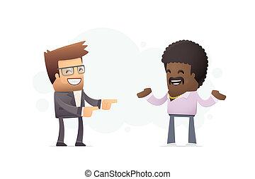 casting director chooses actor. conceptual illustration