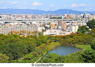 Nagoya cityscape - Skyline of Nagoya city in Japan