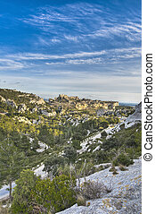 Les Baux-de-Provence general view at France