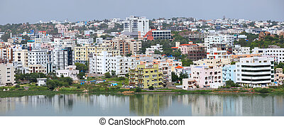 Hyderabad cityscape - HYDERABAD INDIA - August 29 :...