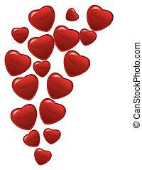 corações,