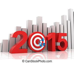 2015 target with bar chart background