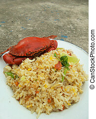 Fried ricewith crab
