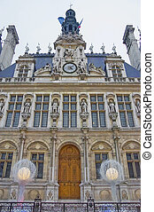 Hotel de Ville at Paris, France - Hotel de Ville located at...
