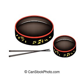 Two Sushioke or Round Sushi Serving Platter